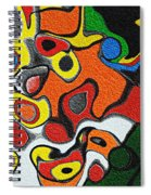 Melted Rubiks Cube Spiral Notebook