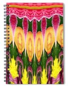 Melting Lily And Chrysanthemums Abstract Spiral Notebook