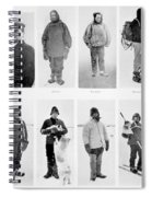Members Of The British Antarctic Expedition At The Start Of The Journey Spiral Notebook