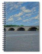 Memorial Bridge After The Storm Spiral Notebook