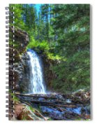 Memorial Falls With Sky Spiral Notebook