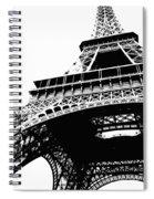 Eiffel Tower Silhouette Spiral Notebook