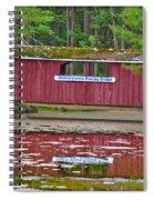 Memorytown Kissing Bridge Spiral Notebook