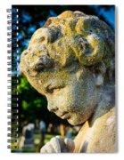 Memphis Elmwood Cemetery - Boy Angel Vertical Spiral Notebook