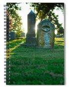 Memphis Elmwood Cemetery - Backlit Grave Stones Spiral Notebook
