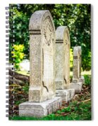 Memphis Elmwood Cemetery Monument - Four In A Row Spiral Notebook