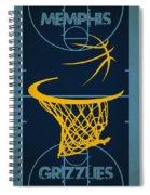 Memphis Grizzlies Court Spiral Notebook
