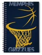 Memphis Grizzlies Hoop Spiral Notebook