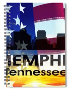 Memphis Tn Patriotic Large Cityscape Spiral Notebook