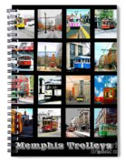 Memphis Trolleys Spiral Notebook