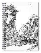 Men At The Bar Spiral Notebook