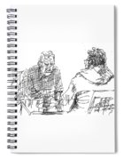 Men At The Cafe Spiral Notebook