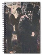 Men In Yellow Light Spiral Notebook