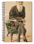 Men Of The Day, No. 33, Charles Darwin, Cartoon From Vanity Fair Spiral Notebook