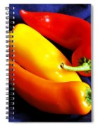 Menage A Trois Peppers Iv Spiral Notebook