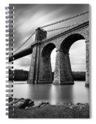 Menai Suspension Bridge Spiral Notebook
