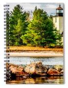 Mendota Bete Grise Lighthouse Spiral Notebook