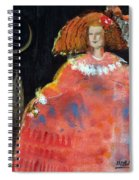 Menina And Cathedral Oil & Acrylic On Canvas Spiral Notebook