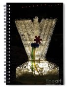 Menorah On The Square Spiral Notebook