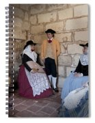 Menorquins Dress And Suit  Back In Time Xviii Century Spiral Notebook