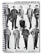 Men's Fashion, 1902 Spiral Notebook