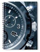 Mens Watch Close Up Spiral Notebook