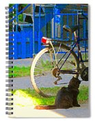 Meow Cat In Verdun Waiting By The Step Beautiful Summer Montreal Pet Lovers City Scene C Spandau Spiral Notebook