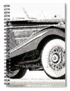 Mercedes 540k  - Parallel Hatching Spiral Notebook