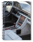 Mercedes 560 Sec Interior Spiral Notebook