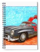 Mercedes  Benz 300 S L Gull Wing Spiral Notebook
