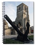 Merchant Sailors Memorial With Q.e.2 Anchor Spiral Notebook