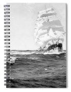 Merchant Ship, 1899 Spiral Notebook