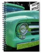 Mercury Truck Bw Background Spiral Notebook