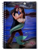 Mermaid And Pirate's Caribbean Love Spiral Notebook