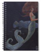 Mermaid And The Blue Fish Spiral Notebook