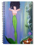 Mermaid And Treasure Chest  Spiral Notebook