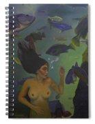 Mermaid At 52 Spiral Notebook
