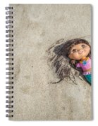 Mermaid In The Sand Spiral Notebook