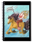 Mermaid Sea Horse Dolphin Fantasy Cathy Peek Spiral Notebook