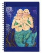 Mermaid Sisters Jelly Fish Cathy Peek Art Spiral Notebook