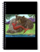 Mermaids Bear Cathy Peek Fantasy Art Spiral Notebook