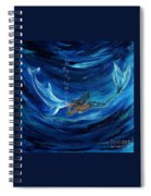 Mermaids Dolphin Buddy Spiral Notebook