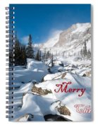 Merry Christmas Snowy Mountain Scene Spiral Notebook