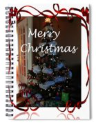 Merry Christmas - Greeting Card - Christmas Tree - Ribbons Spiral Notebook