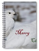 Merry Christmas - Winter Ptarmigan Spiral Notebook