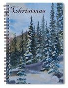 Merry Christmas - Winter Trees And Mountains Spiral Notebook