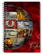Merry Christmas Globe Spiral Notebook