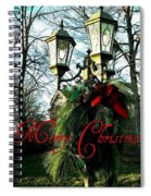 Merry Christmas Greeting Card Spiral Notebook