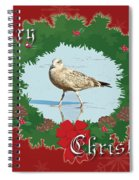 Merry Christmas Greeting Card - Young Seagull Spiral Notebook