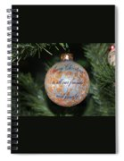 Merry Christmas Greetings Spiral Notebook